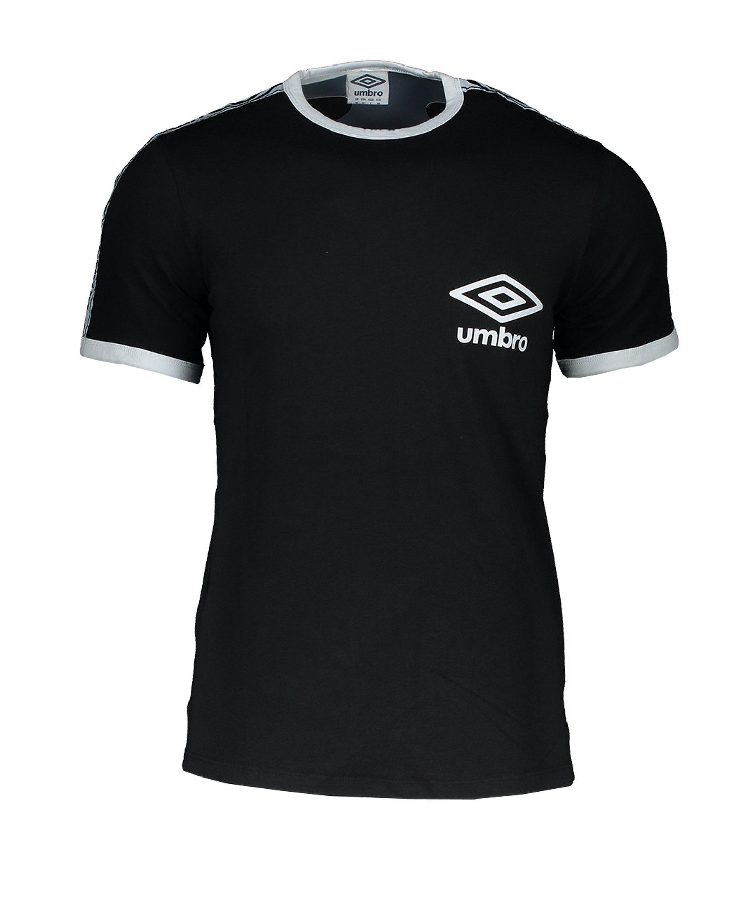 Umbro Taped Ringer T-Shirt Schwarz F060 - Schwarz