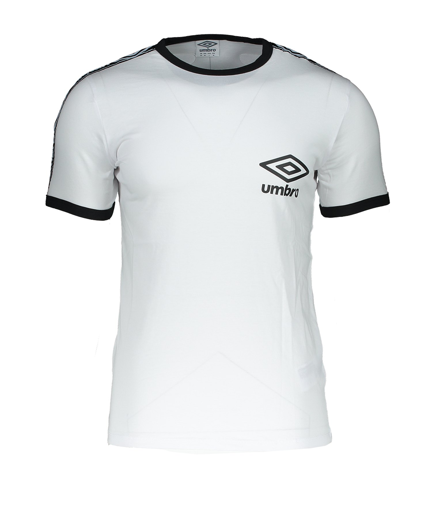 Umbro Taped Ringer T-Shirt Weiss F13V - Weiss