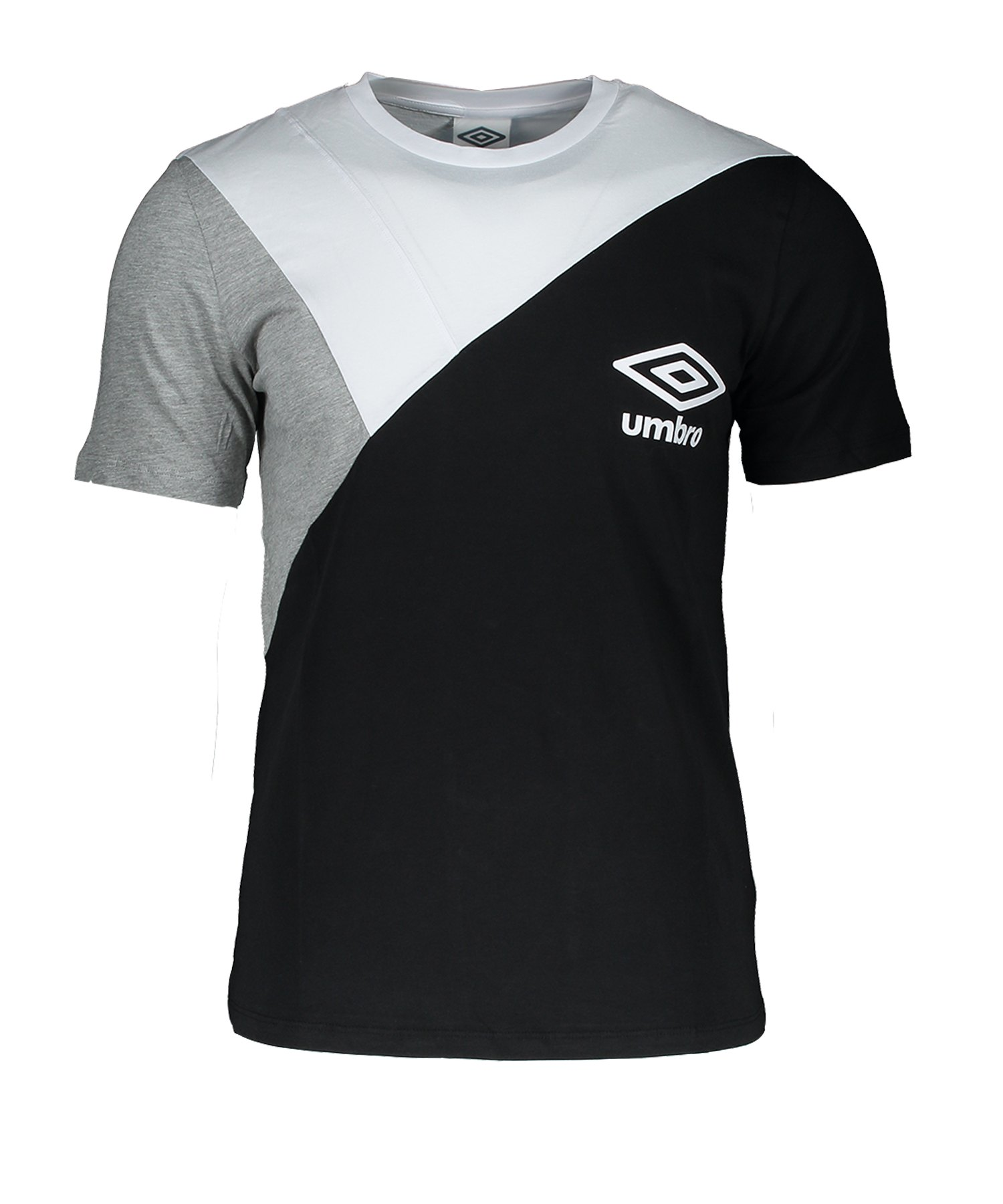 Umbro Colourblock T-Shirt Schwarz FHF7 - Schwarz