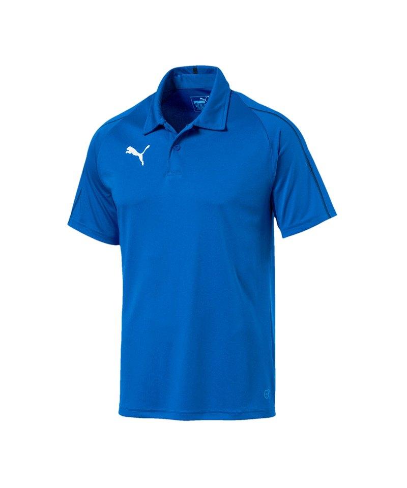 PUMA FINAL Sideline Poloshirt Blau Schwarz F02 - blau