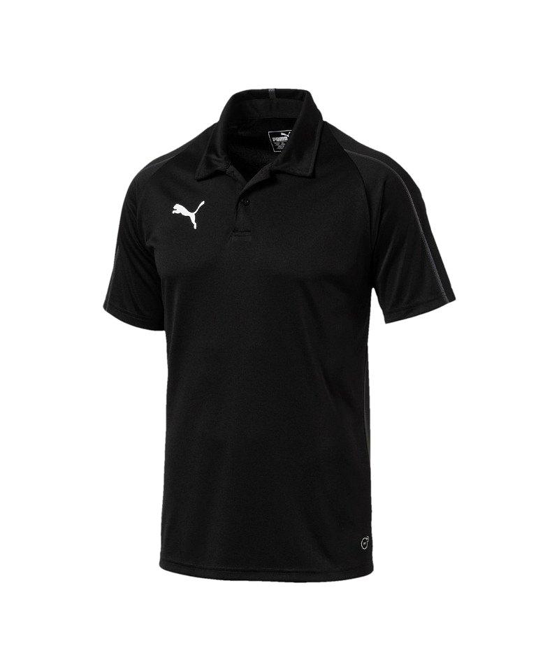 PUMA FINAL Sideline Poloshirt Schwarz Grau F03 - schwarz
