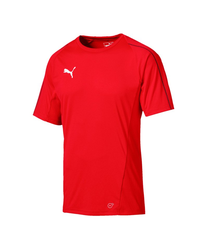 PUMA FINAL Training Trikot kurzarm Rot Schwarz F01 - rot