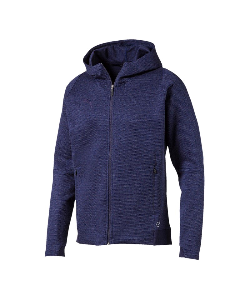 PUMA FINAL Casuals Hooded Jacke Blau F36 - blau