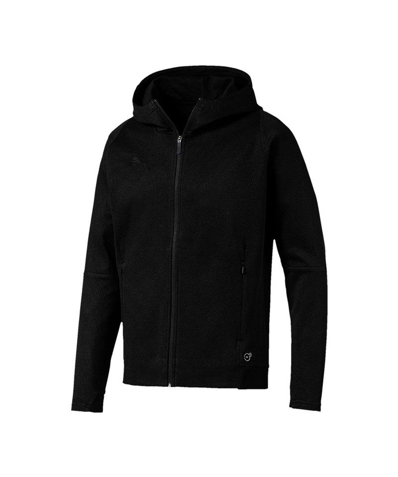 PUMA FINAL Casuals Hooded Jacke Schwarz F03 - schwarz