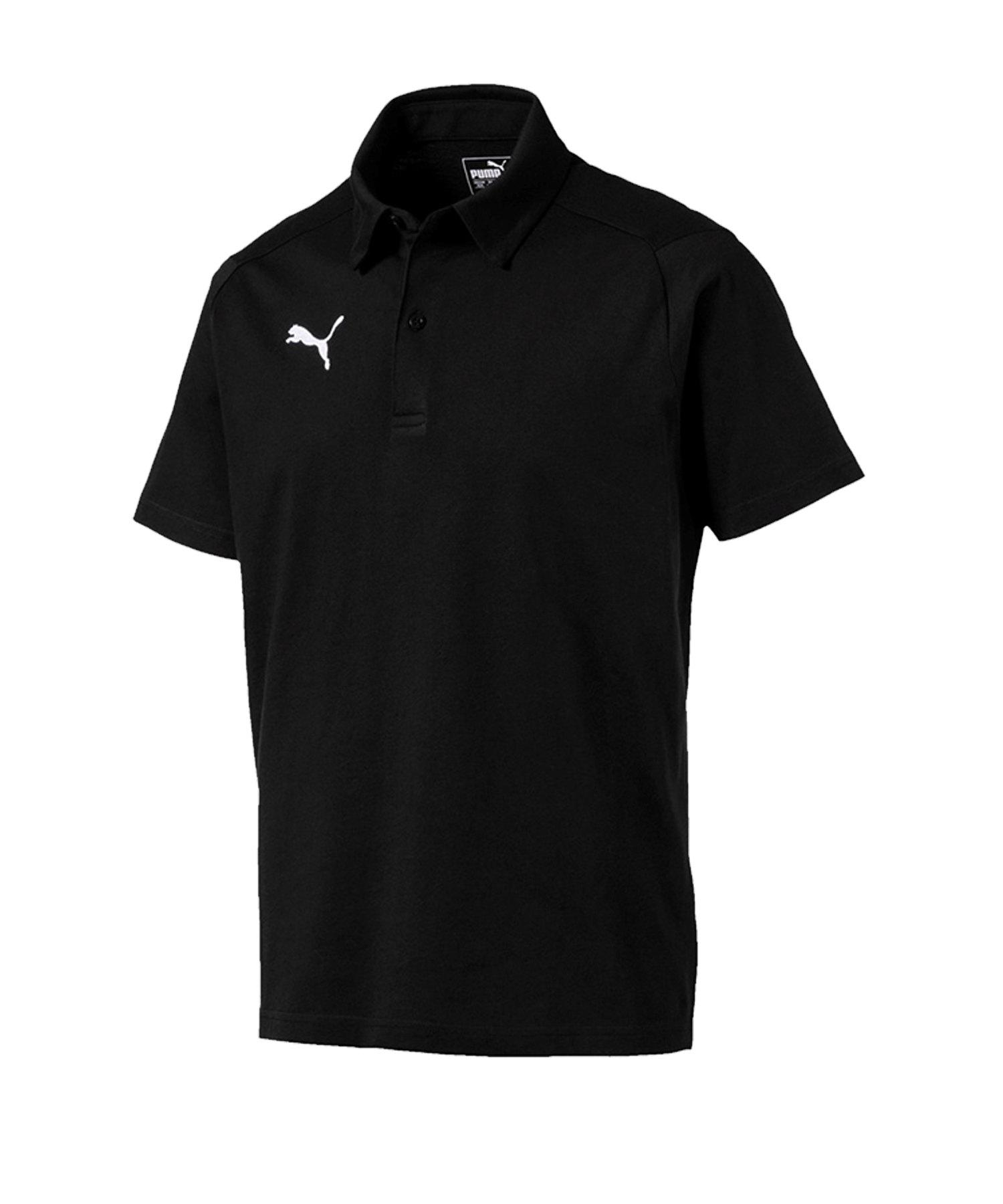PUMA LIGA Casuals Poloshirt Schwarz F03 - schwarz