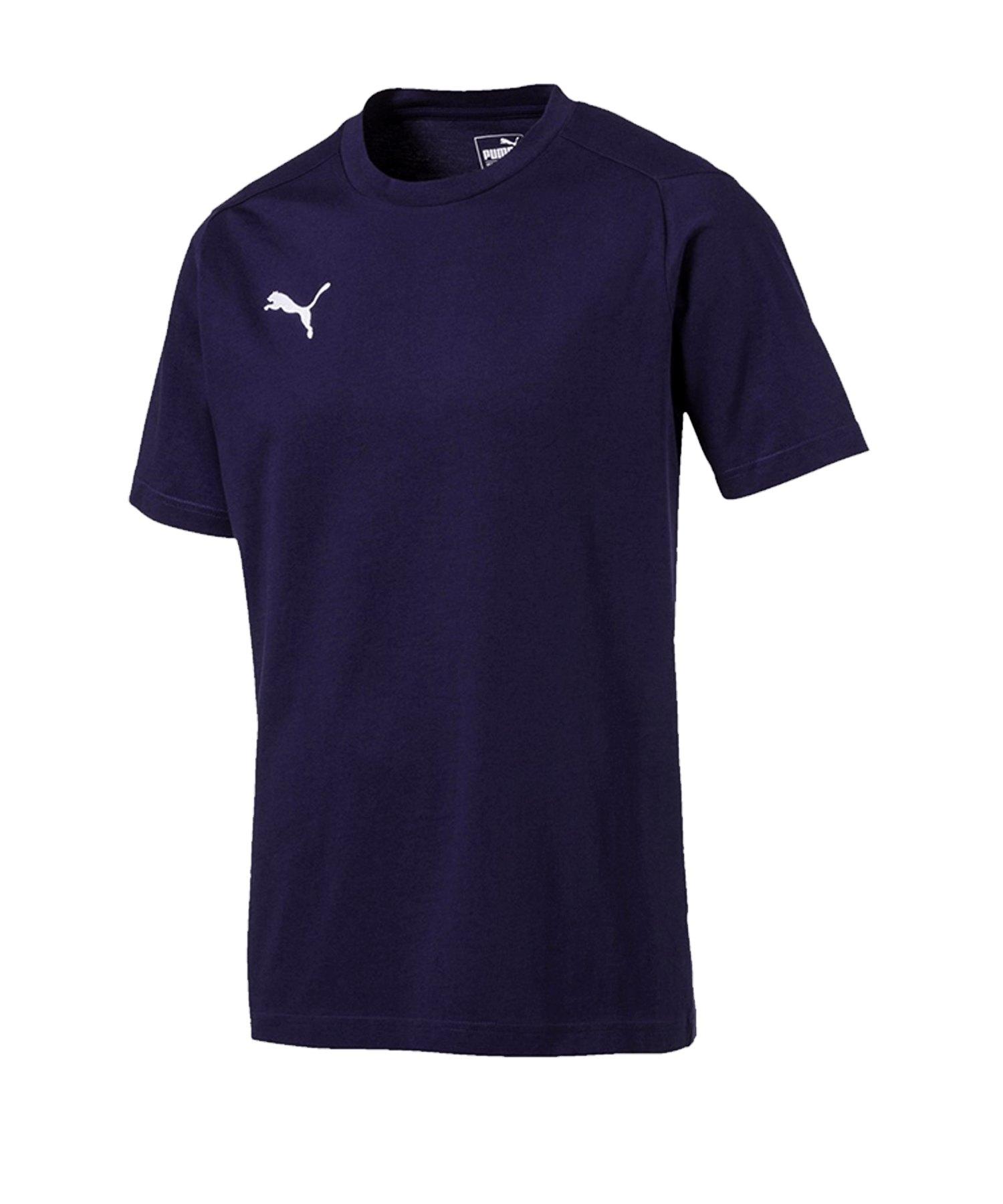 PUMA LIGA Casuals Tee T-Shirt Dunkelblau F06 - blau