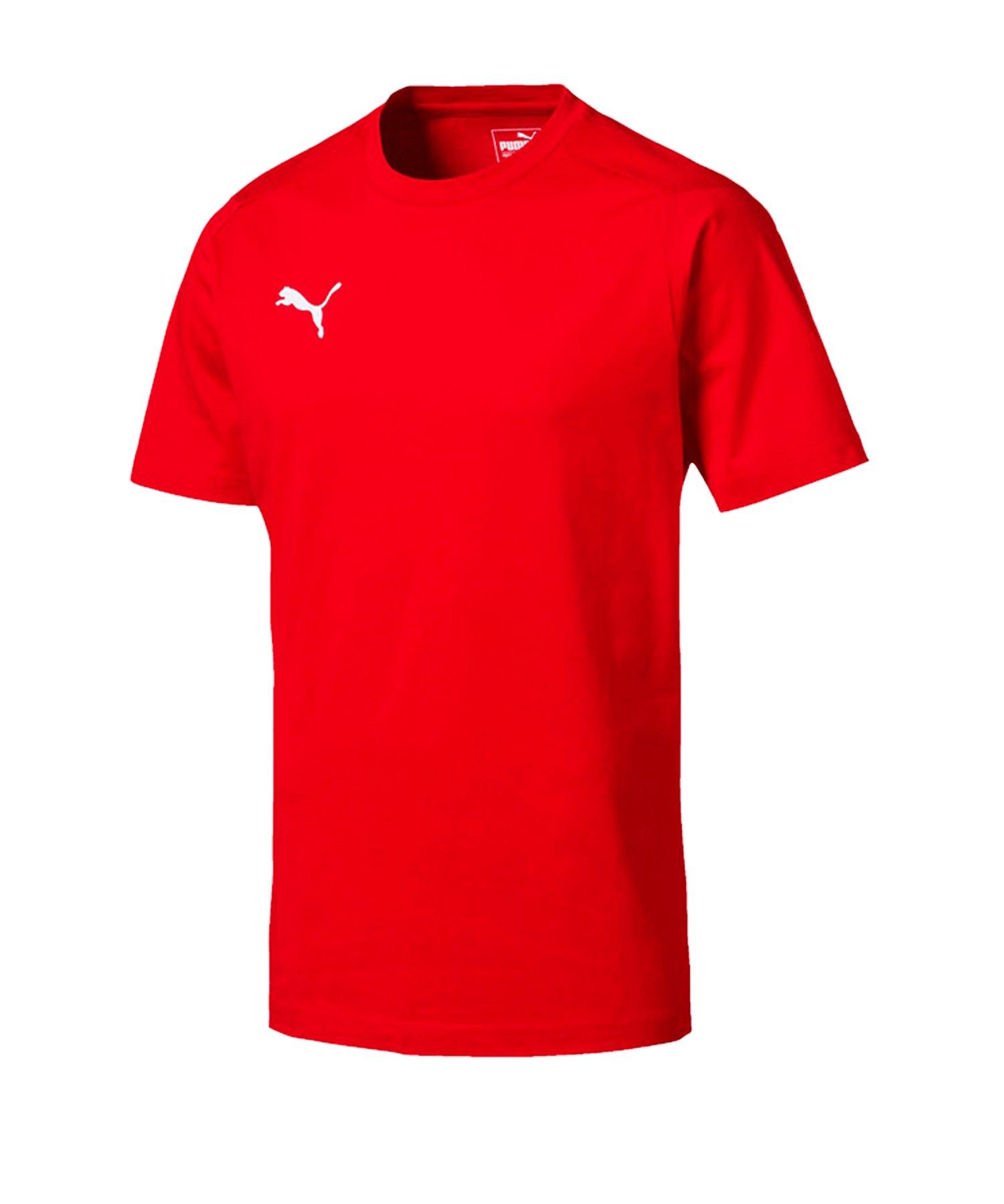 PUMA LIGA Casuals Tee T-Shirt Rot F01 - rot