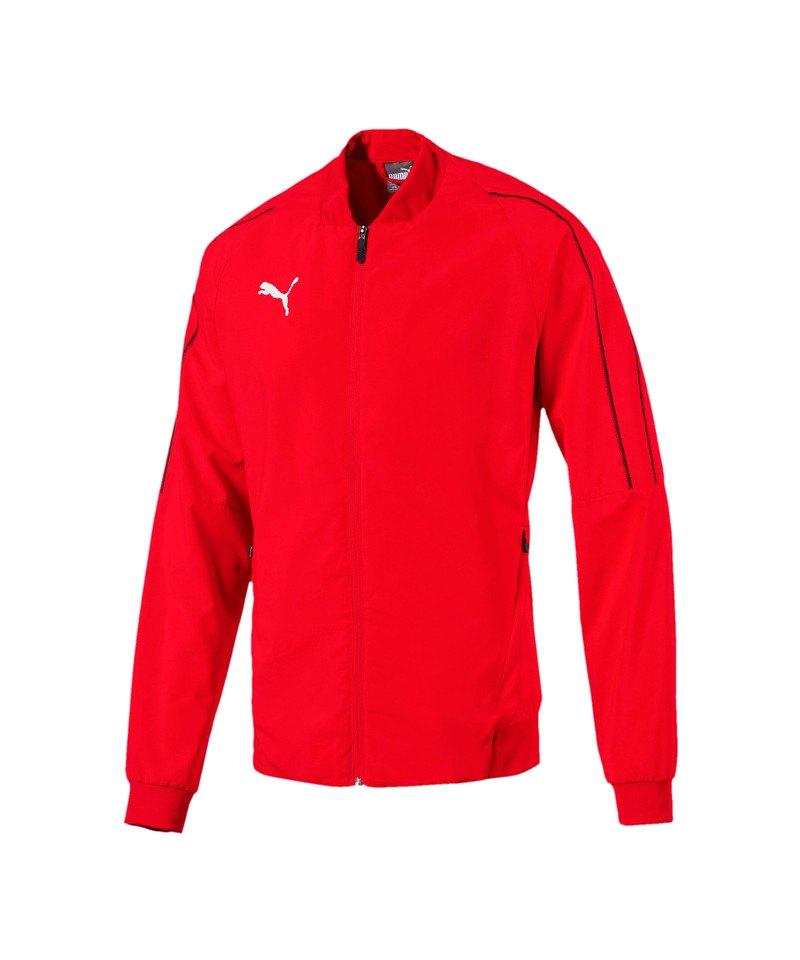 PUMA FINAL Sideline Jacket Jacke Rot Schwarz F01 - rot