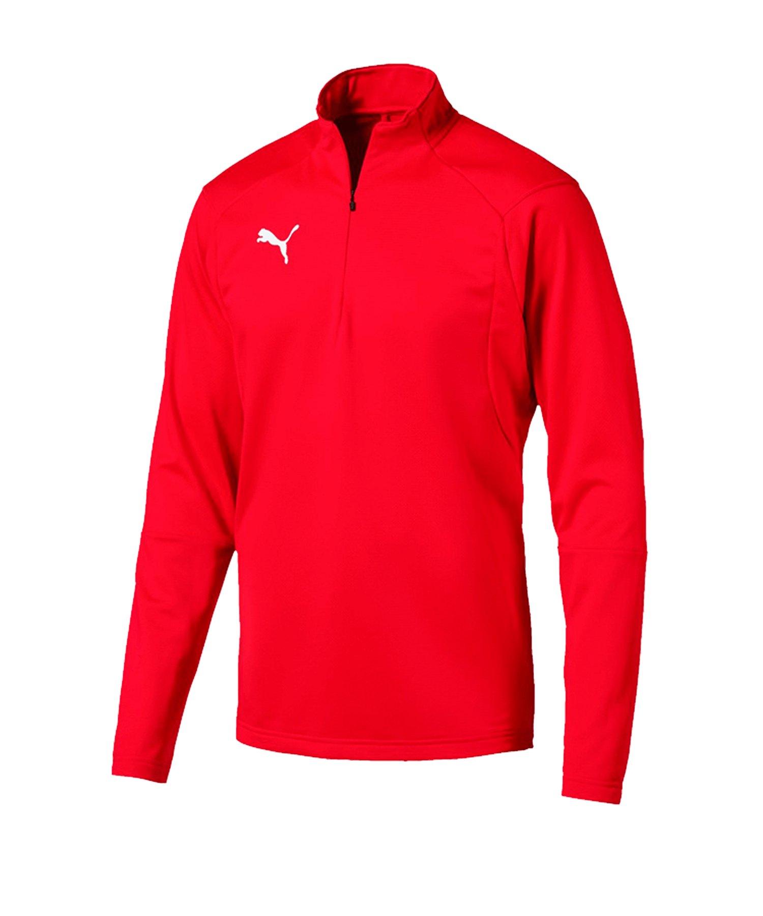 PUMA LIGA Training 1/4 Zip Top Sweatshirt Rot F01 - rot