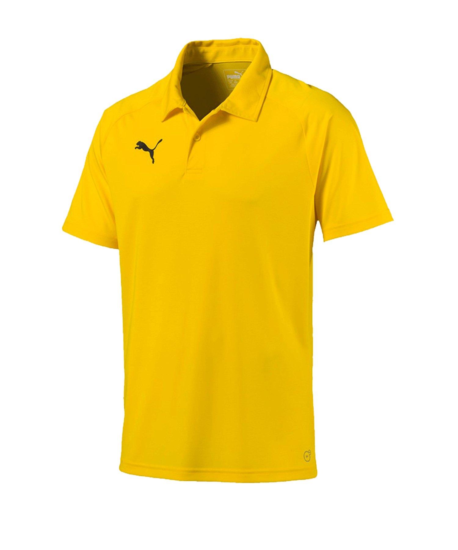 PUMA LIGA Sideline Poloshirt Gelb Schwarz F07 - gelb