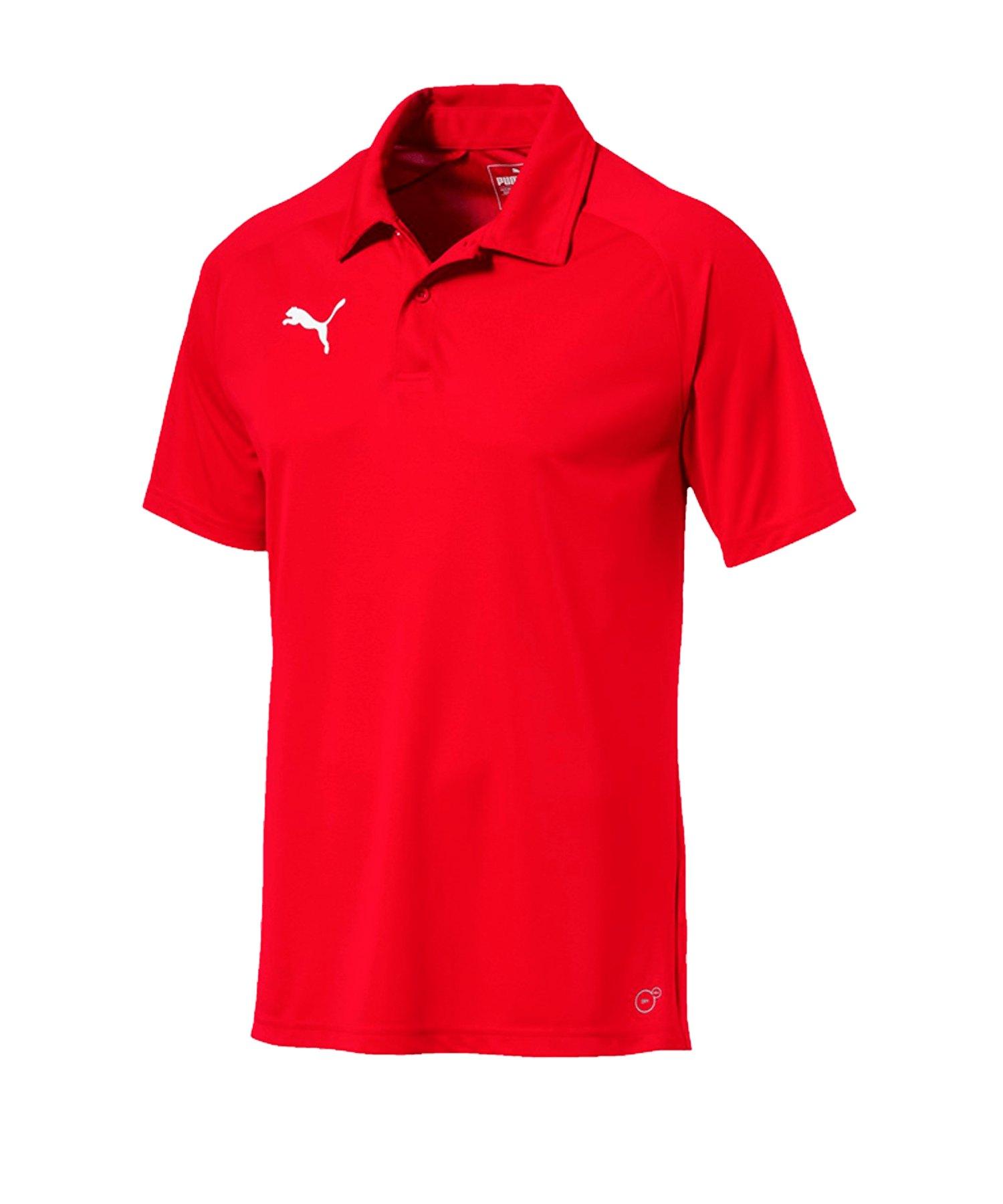 PUMA LIGA Sideline Poloshirt Rot Weiss F01 - rot