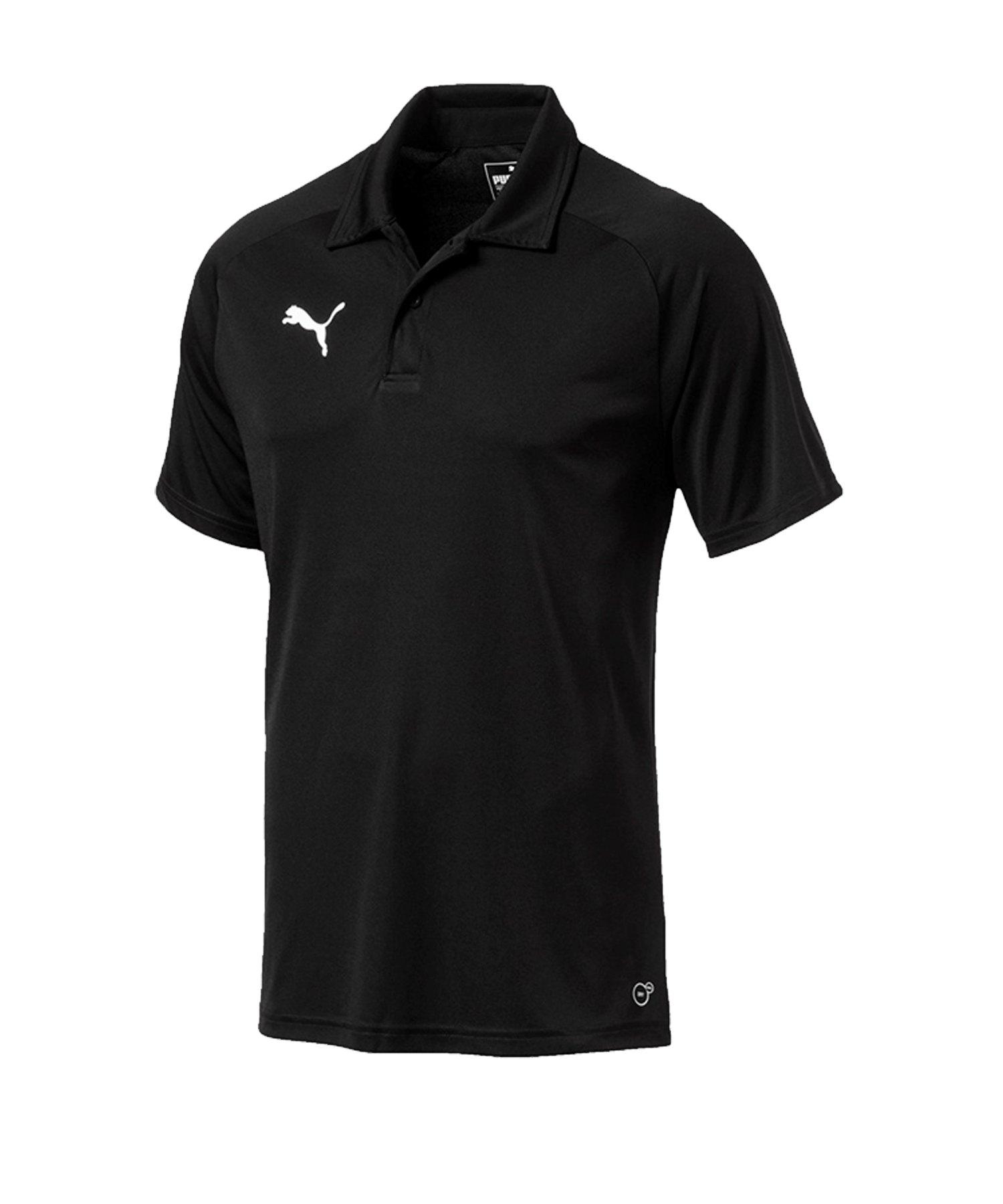PUMA LIGA Sideline Poloshirt Schwarz Weiss F03 - schwarz
