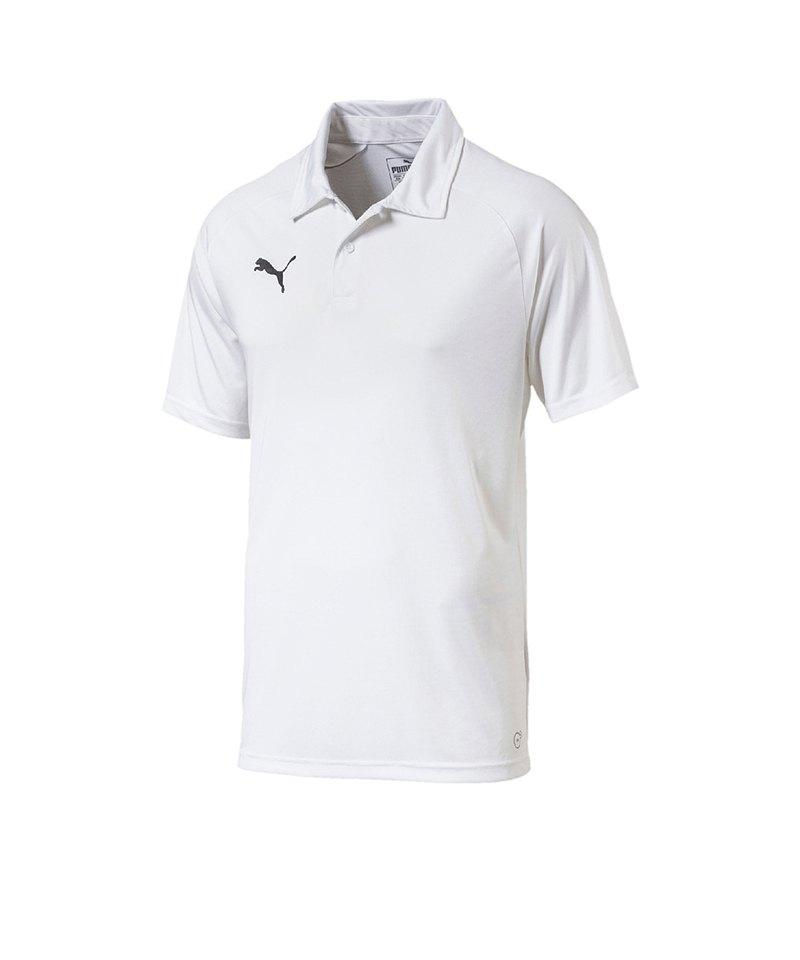 PUMA LIGA Sideline Poloshirt Weiss Schwarz F04 - weiss