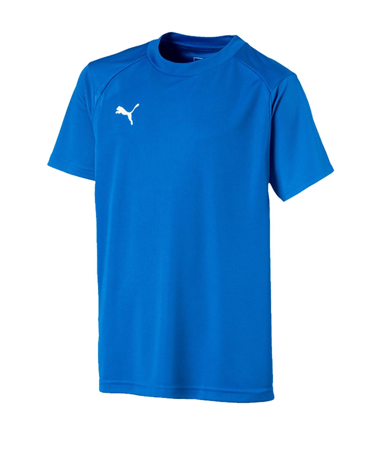 PUMA LIGA Training T-Shirt Kids Blau Weiss F02 - blau