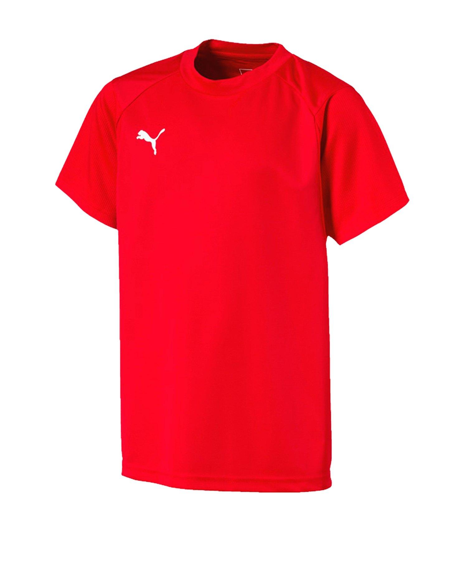 PUMA LIGA Training T-Shirt Kids Rot Weiss F01 - rot