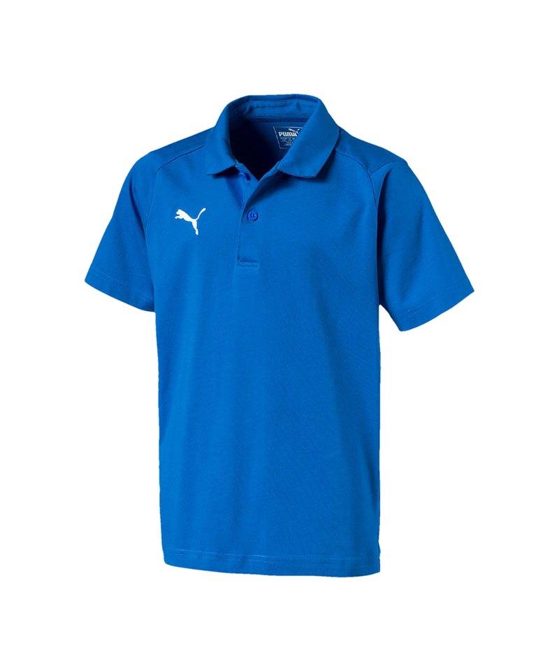 PUMA LIGA Casuals Poloshirt Kids Blau Weiss F02 - blau