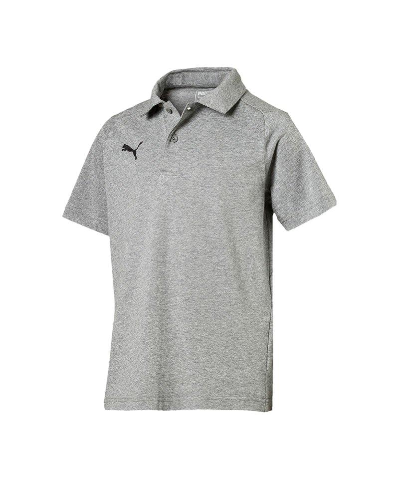 PUMA LIGA Casuals Poloshirt Kids Grau Schwarz F33 - grau