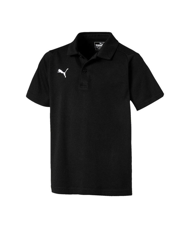PUMA LIGA Casuals Poloshirt Kids Schwarz Weiss F03 - schwarz
