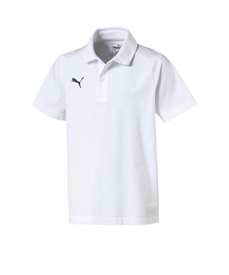 PUMA LIGA Casuals Poloshirt Kids Weiss F04 - weiss