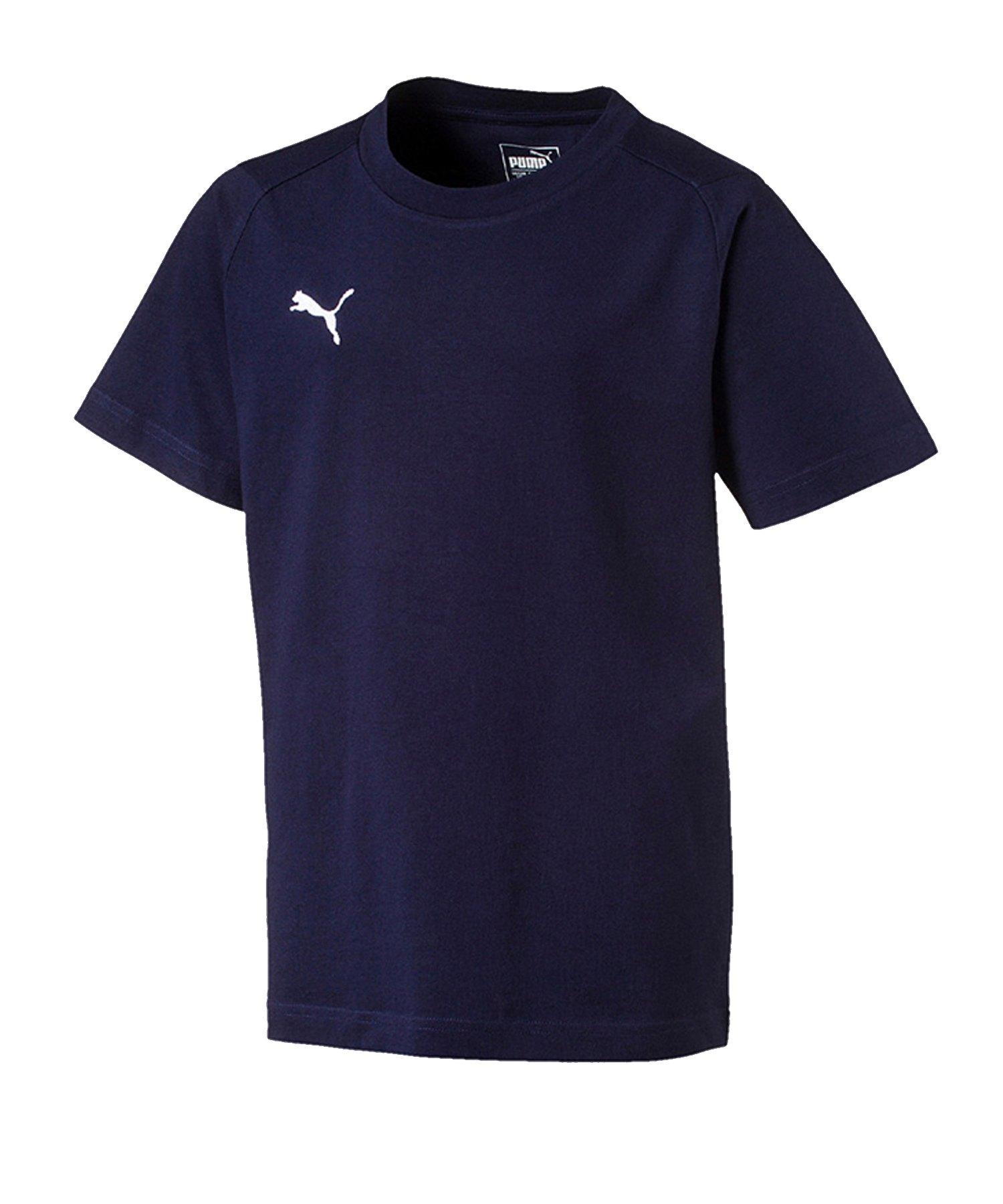 PUMA LIGA Casuals T-Shirt Kids Blau Weiss F06 - blau