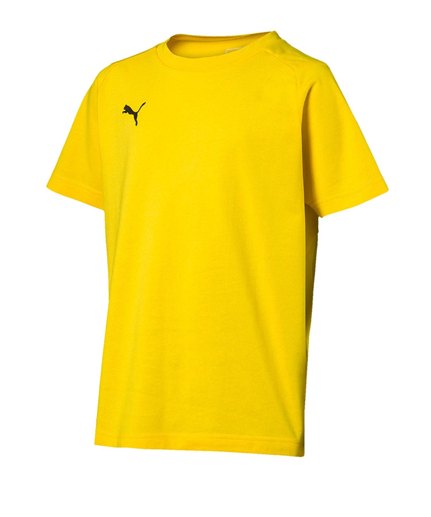PUMA LIGA Casuals T-Shirt Kids Gelb Schwarz F07 - gelb