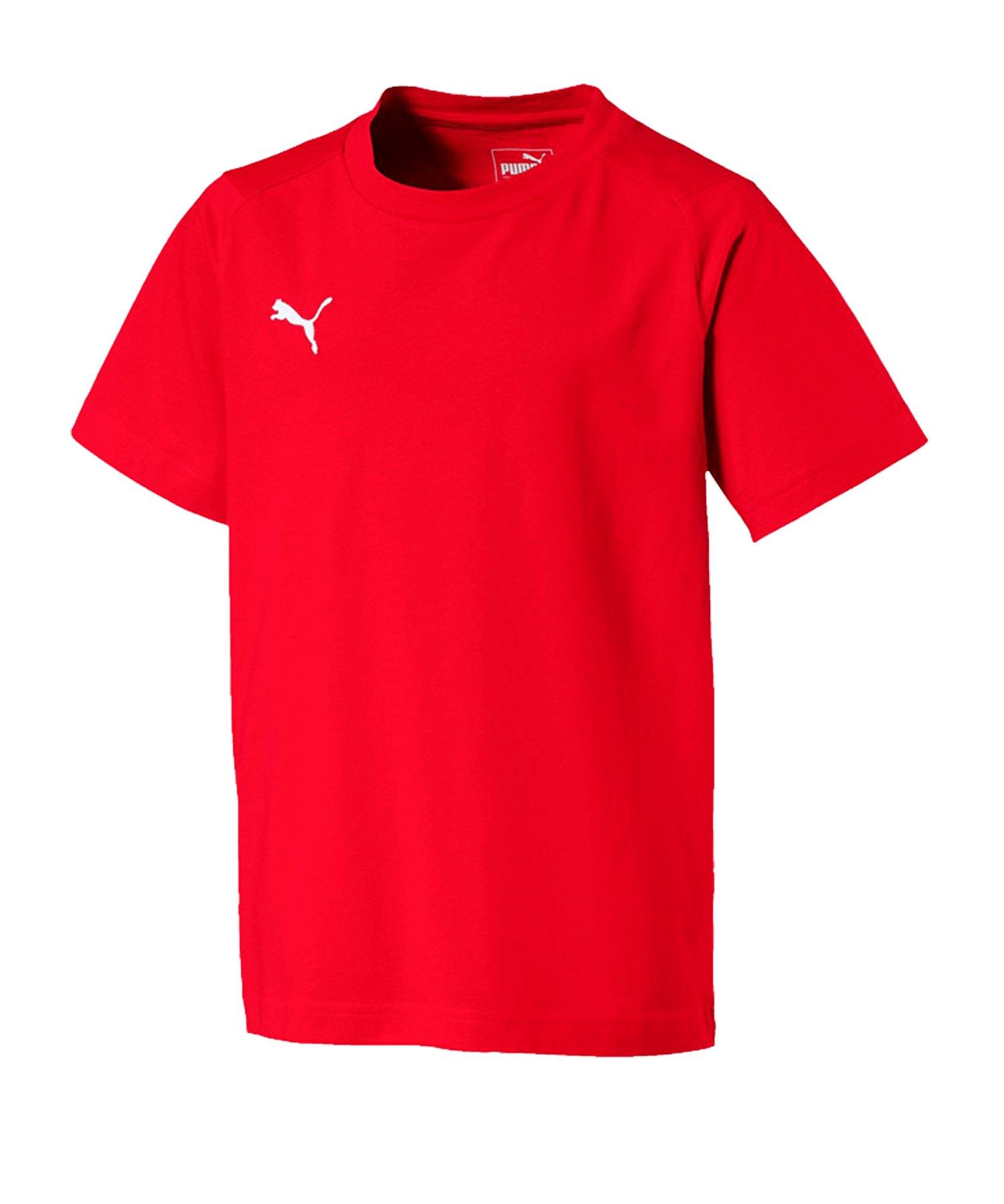 PUMA LIGA Casuals T-Shirt Kids Rot F01 - rot