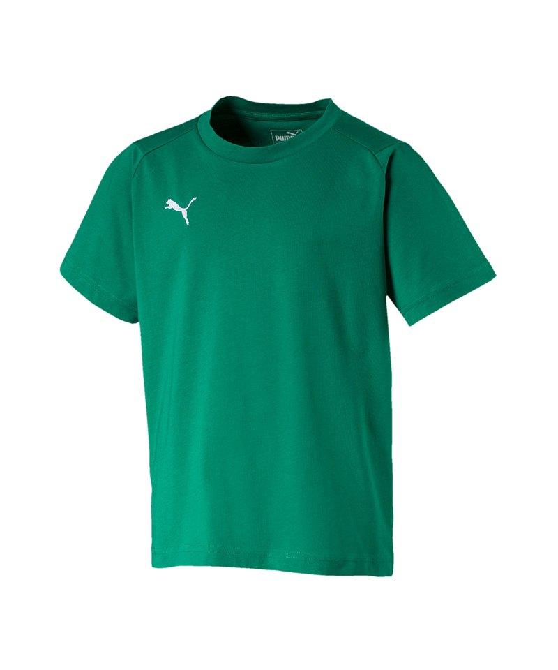 PUMA LIGA Casuals Tee T-Shirt Kids Grün F05 - gruen