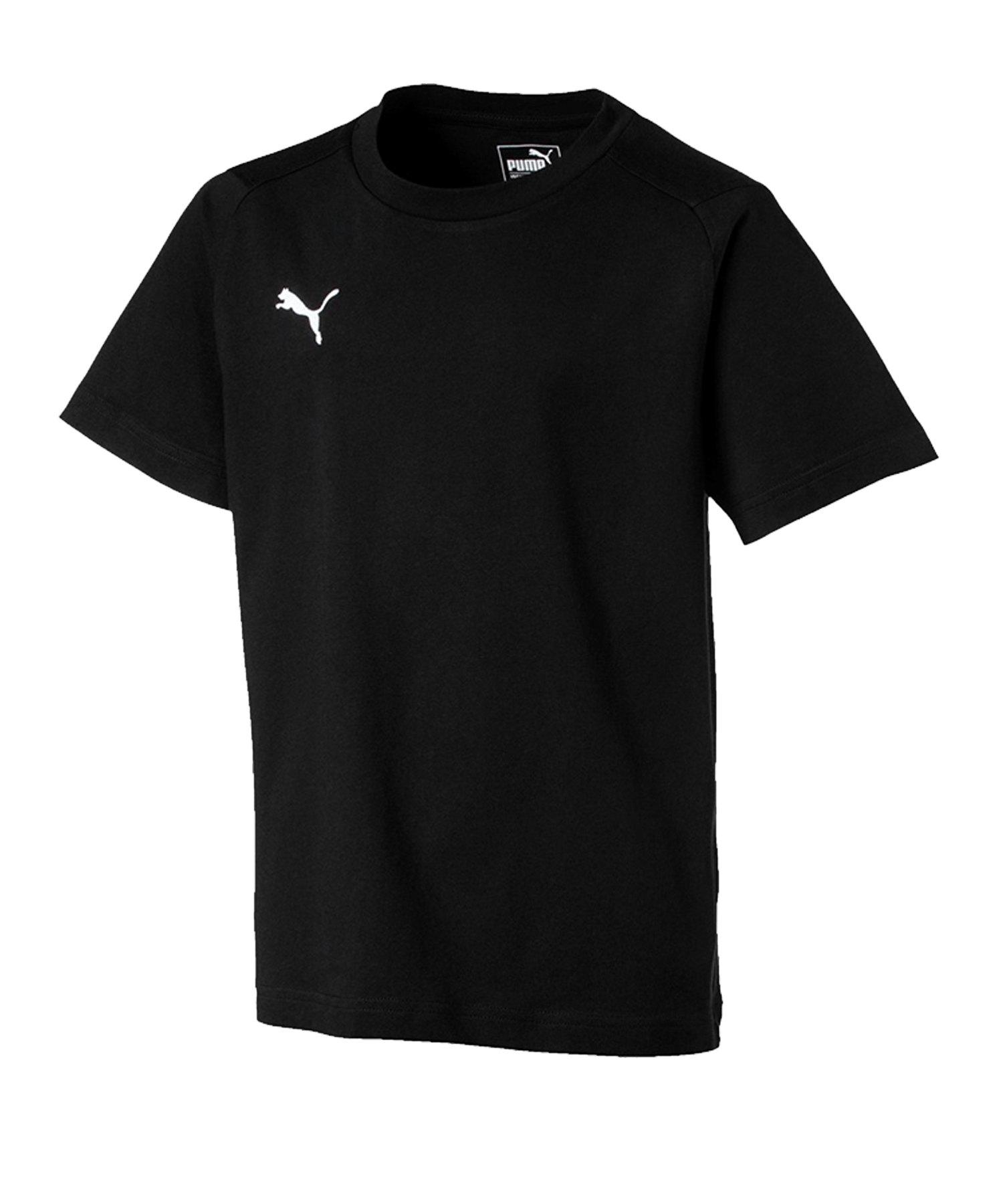 PUMA LIGA Casuals Tee T-Shirt Kids Schwarz F03 - schwarz