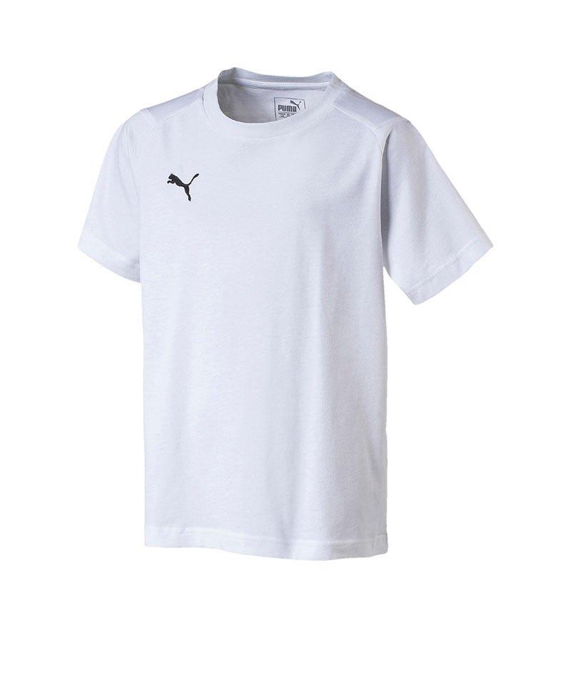 PUMA LIGA Casuals Tee T-Shirt Kids Weiss F04 - weiss