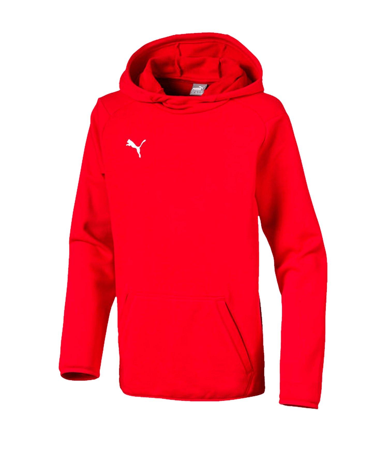 PUMA LIGA Casuals Kapuzensweatshirt Kids Rot F01 - rot
