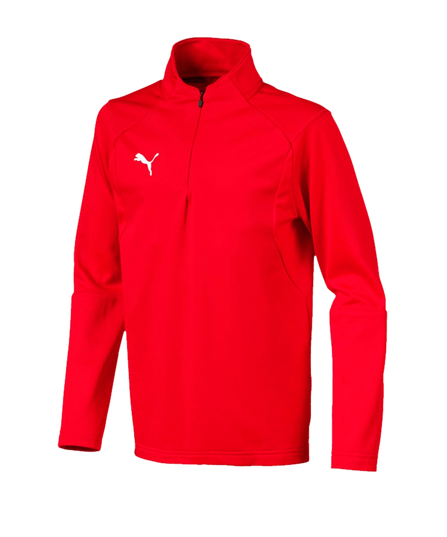 PUMA LIGA Training 1/4 Zip Top Sweatshirt Kids F01 - rot