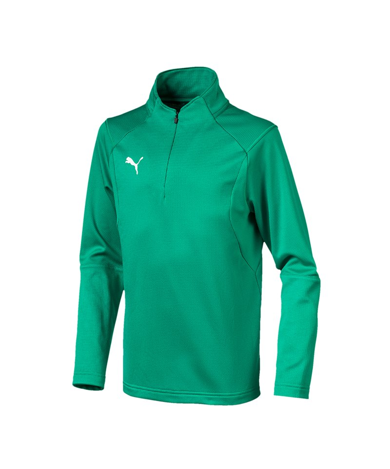 PUMA LIGA Training 1/4 Zip Top Sweatshirt Kids F05 - gruen