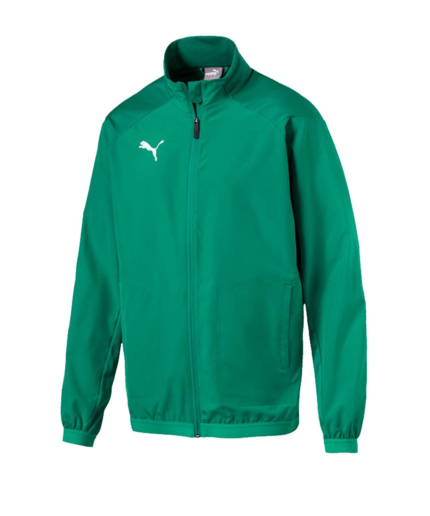 PUMA LIGA Sideline Jacket Jacke Grün Weiss F05 - gruen