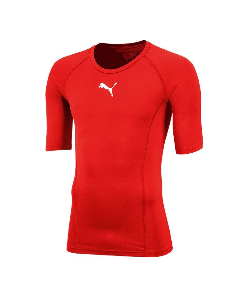 PUMA LIGA Baselayer Shortsleeve Kids Rot F01 - rot