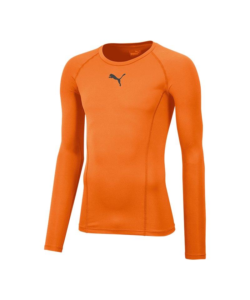 PUMA LIGA Baselayer Longsleeve Orange F08 - orange