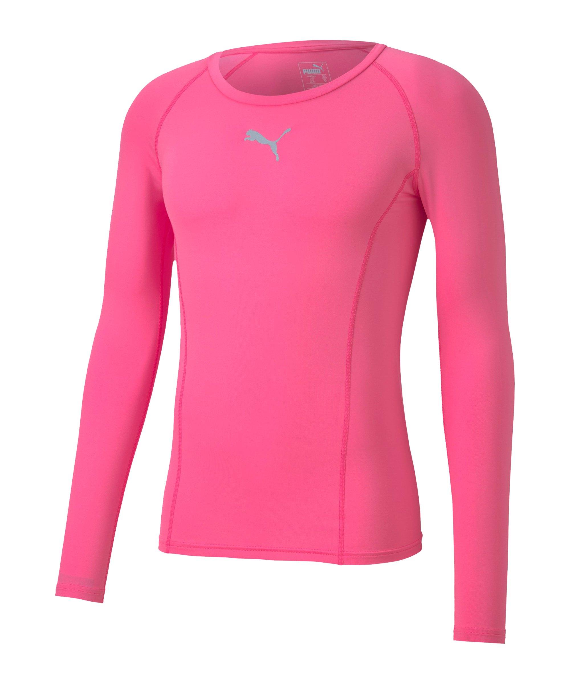PUMA LIGA Baselayer Longsleeve Pink F29 - pink