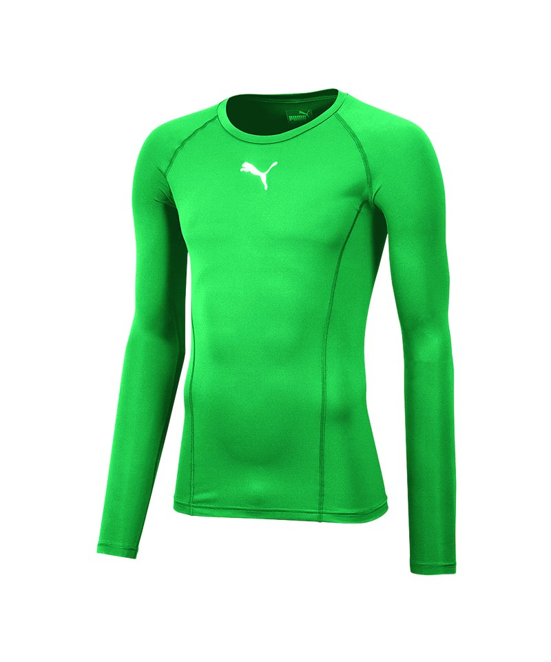 PUMA LIGA Baselayer Warm Longsleeve Kids F05 - gruen