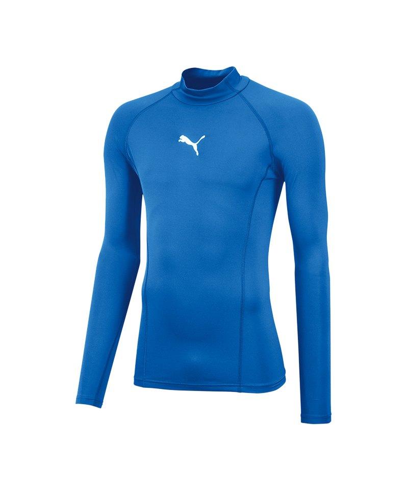 PUMA LIGA Baselayer Warm Longsleeve Shirt F02 - blau