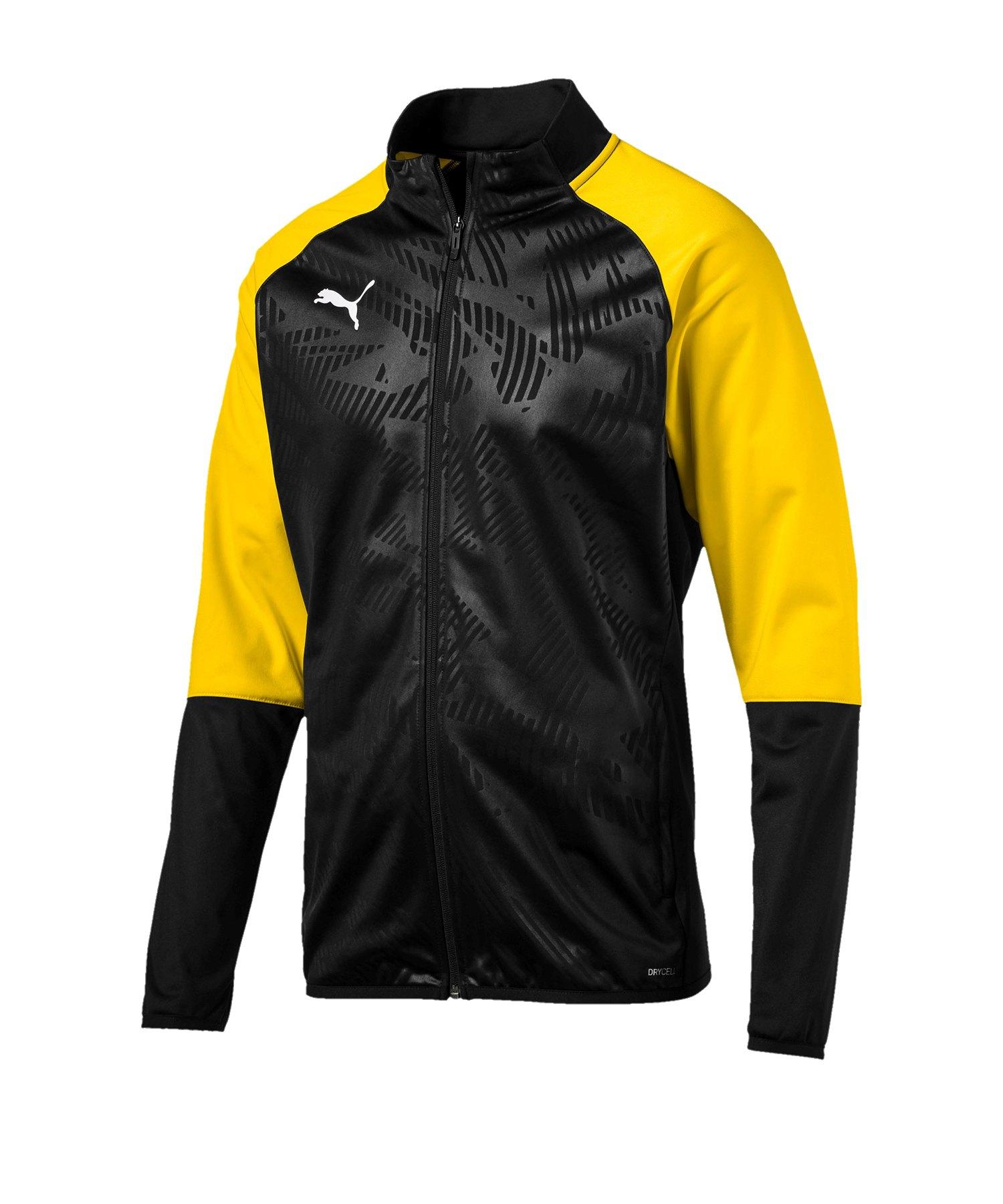 PUMA CUP Training Poly Jacket Core Schwarz Gelb - schwarz