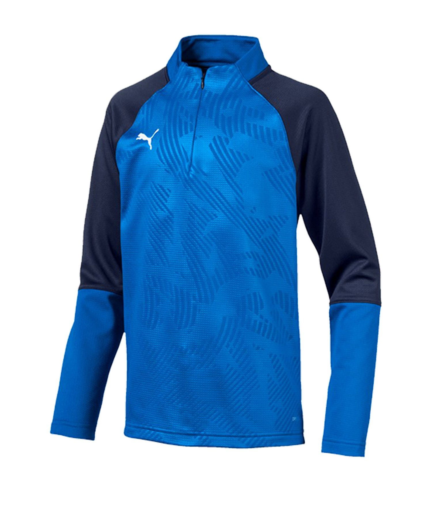 PUMA CUP Training Core 1/4 Zip Top Kids Blau F02 - blau