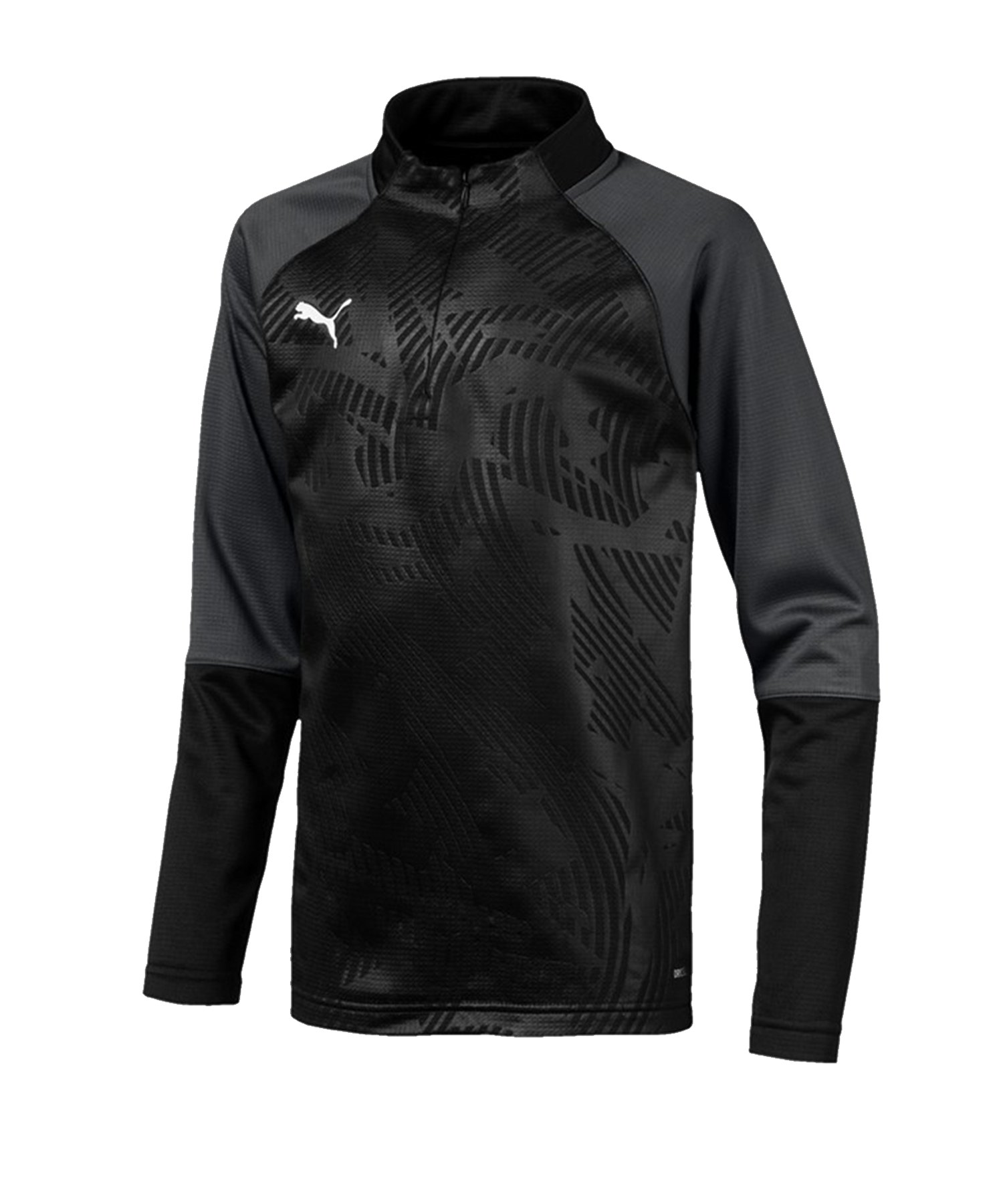 PUMA CUP Training Core 1/4 Zip Top Kids F03 - schwarz