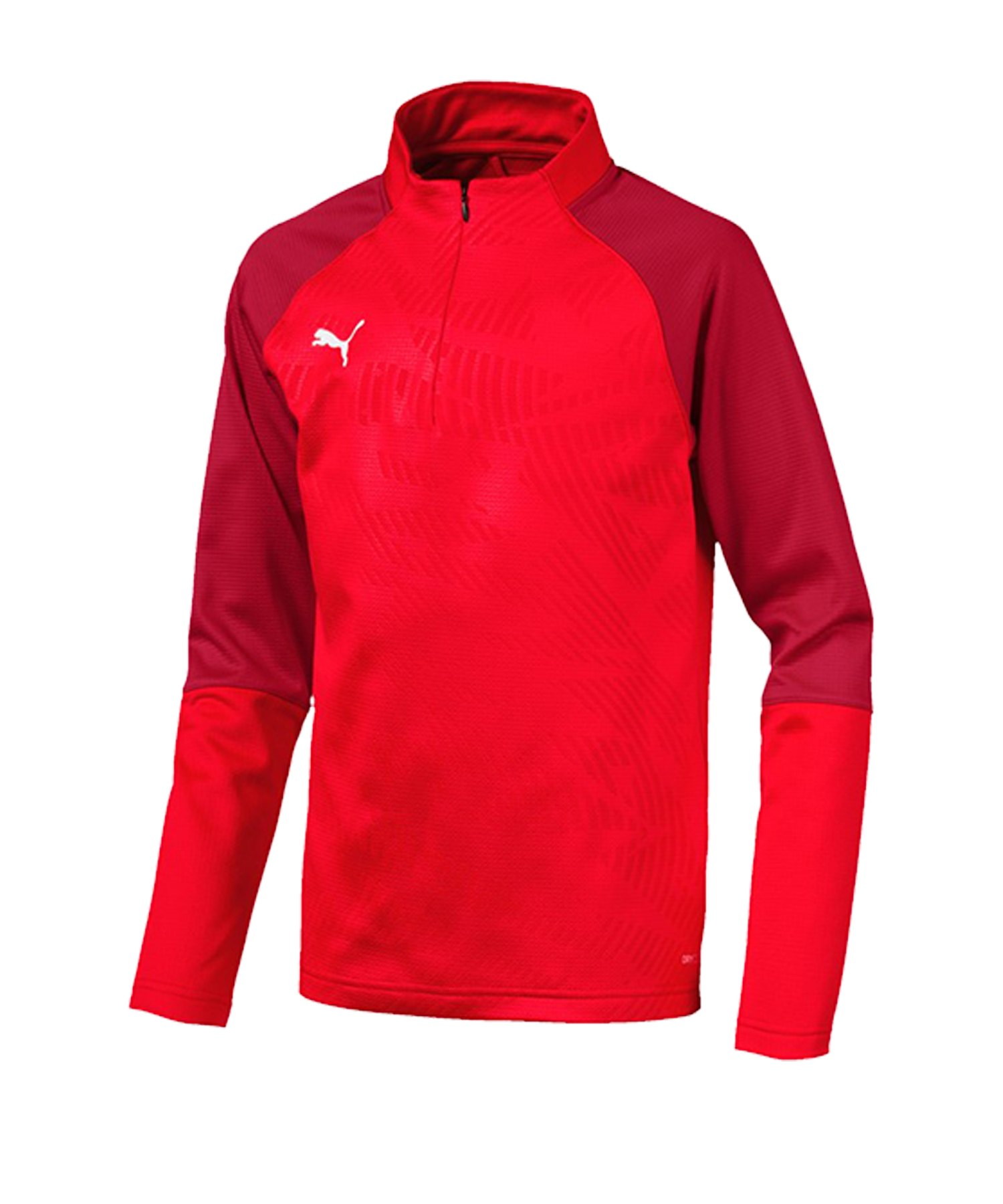 PUMA CUP Training Core 1/4 Zip Top Kids Rot F01 - rot