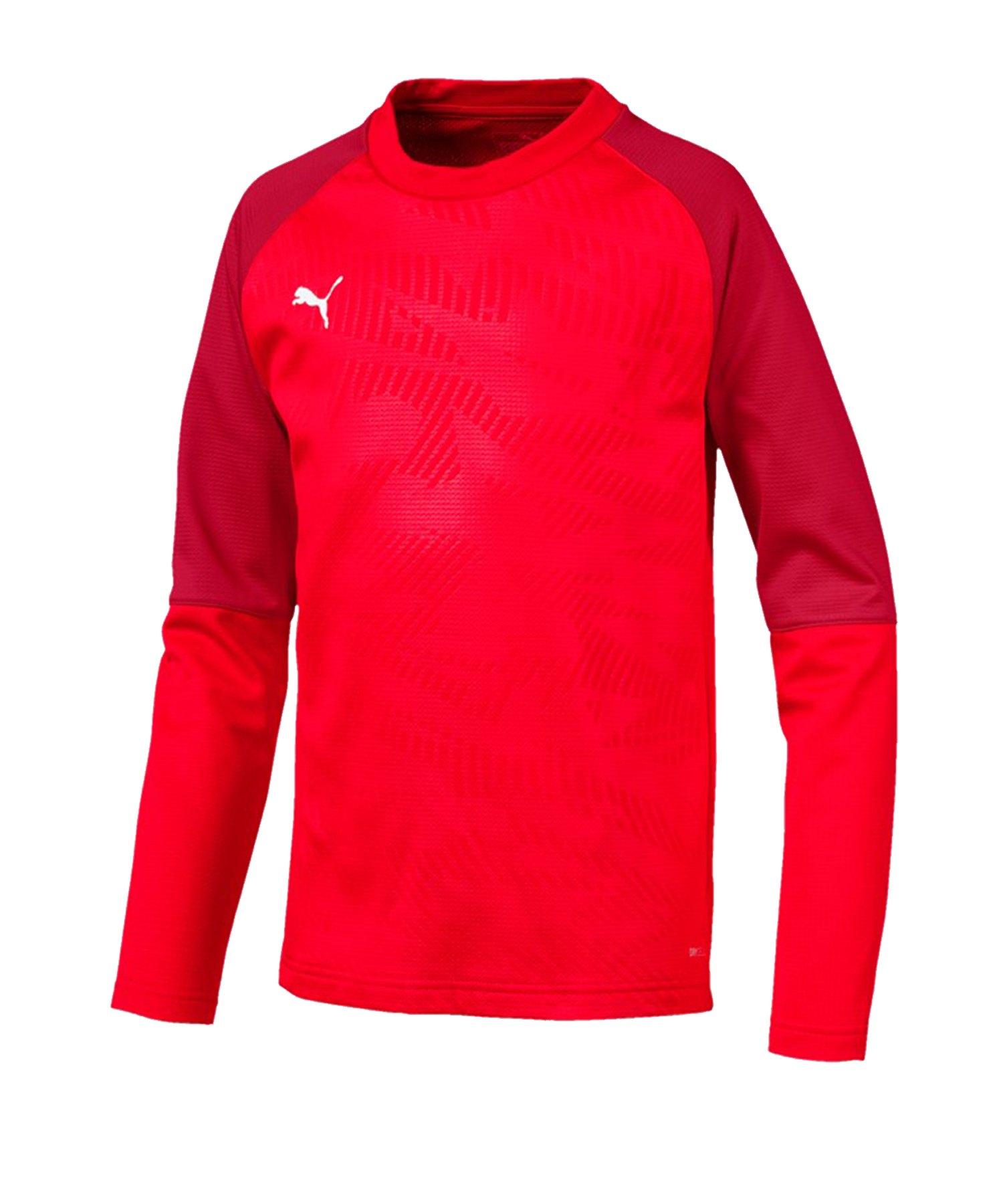 PUMA CUP Training Core Sweatshirt Kids Rot F01 - rot