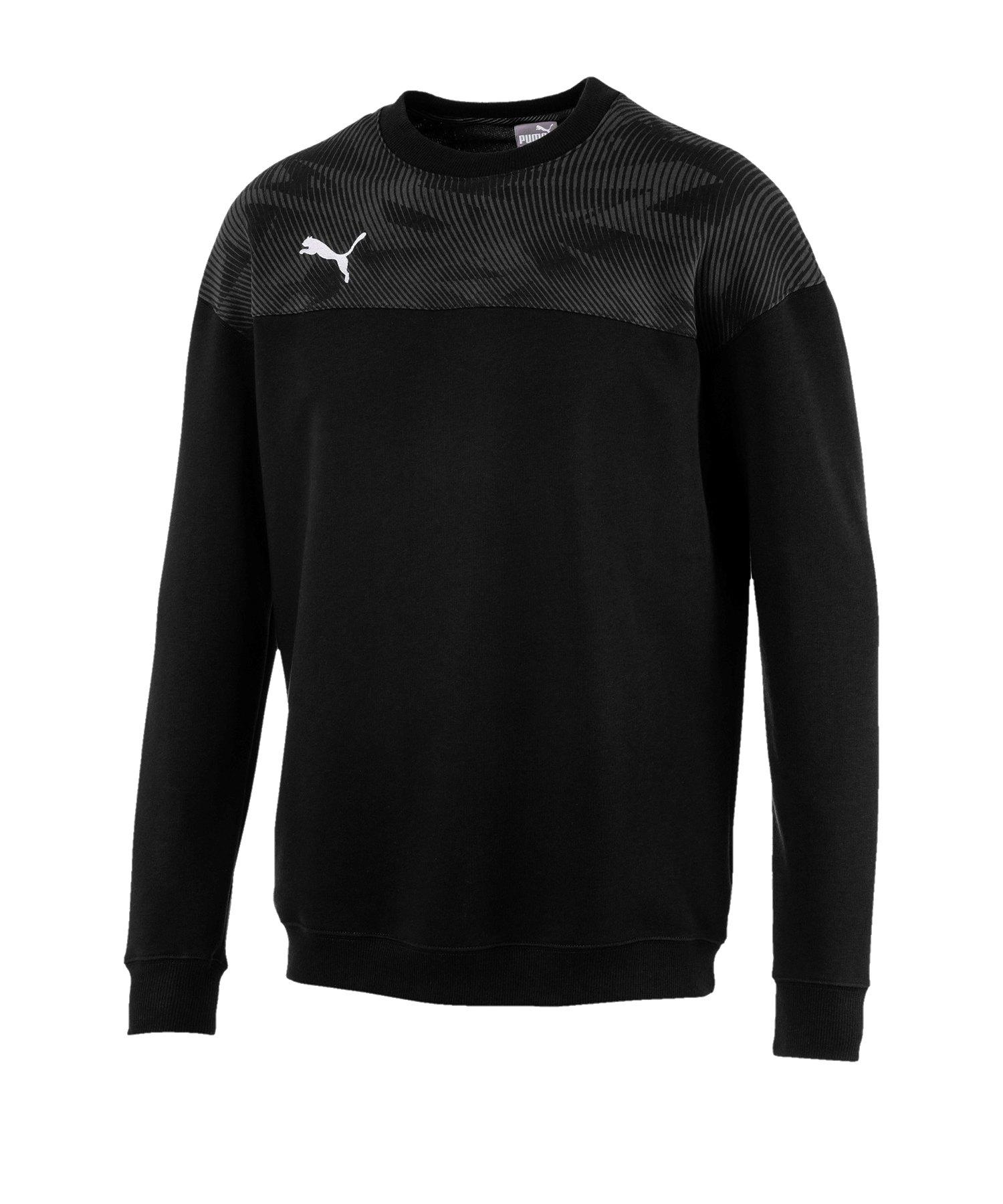 PUMA CUP Casuals Sweatshirt Schwarz Weiss F03 - schwarz