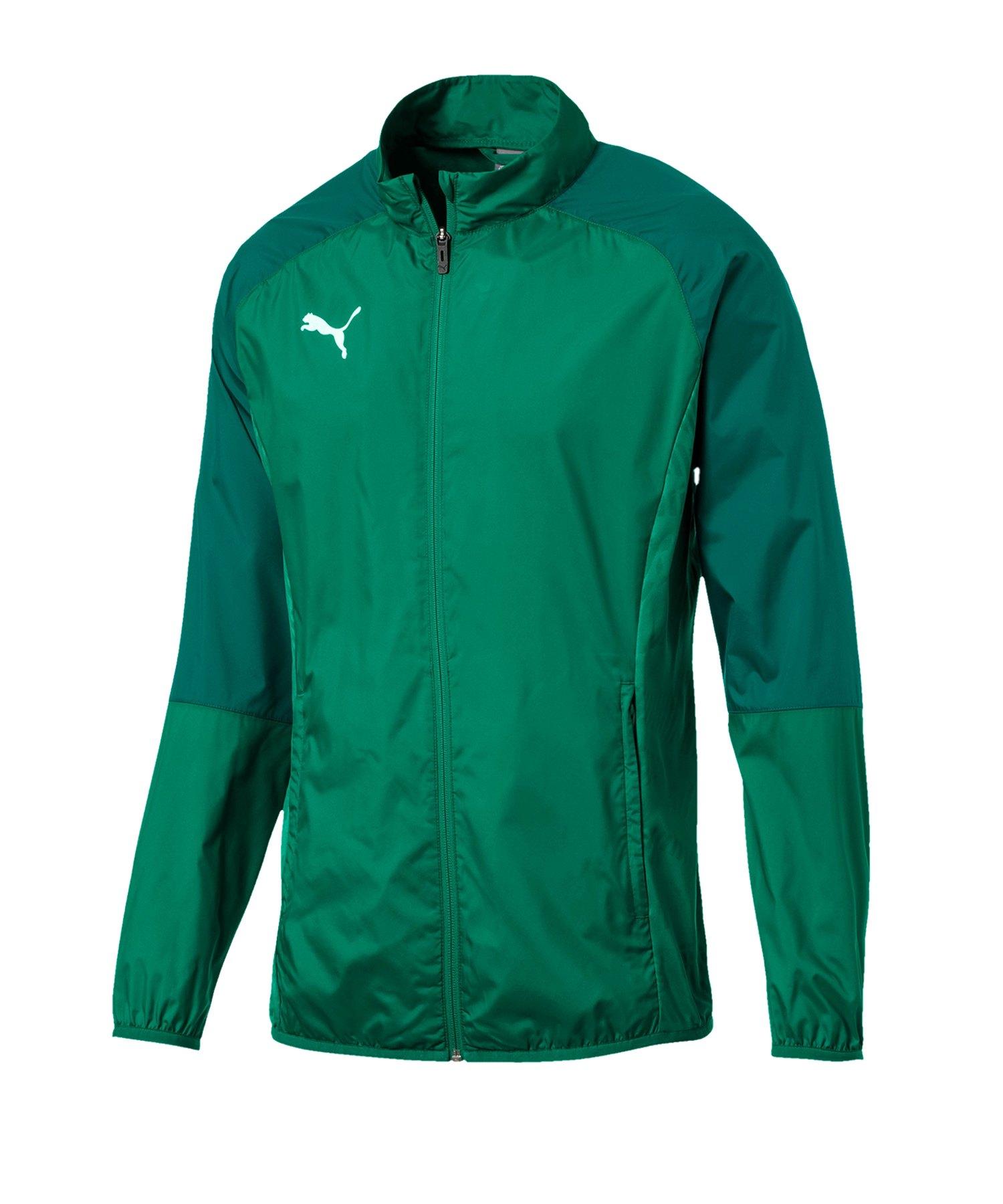 PUMA CUP Sideline Core Woven Jacket Kids Grün F05 - gruen