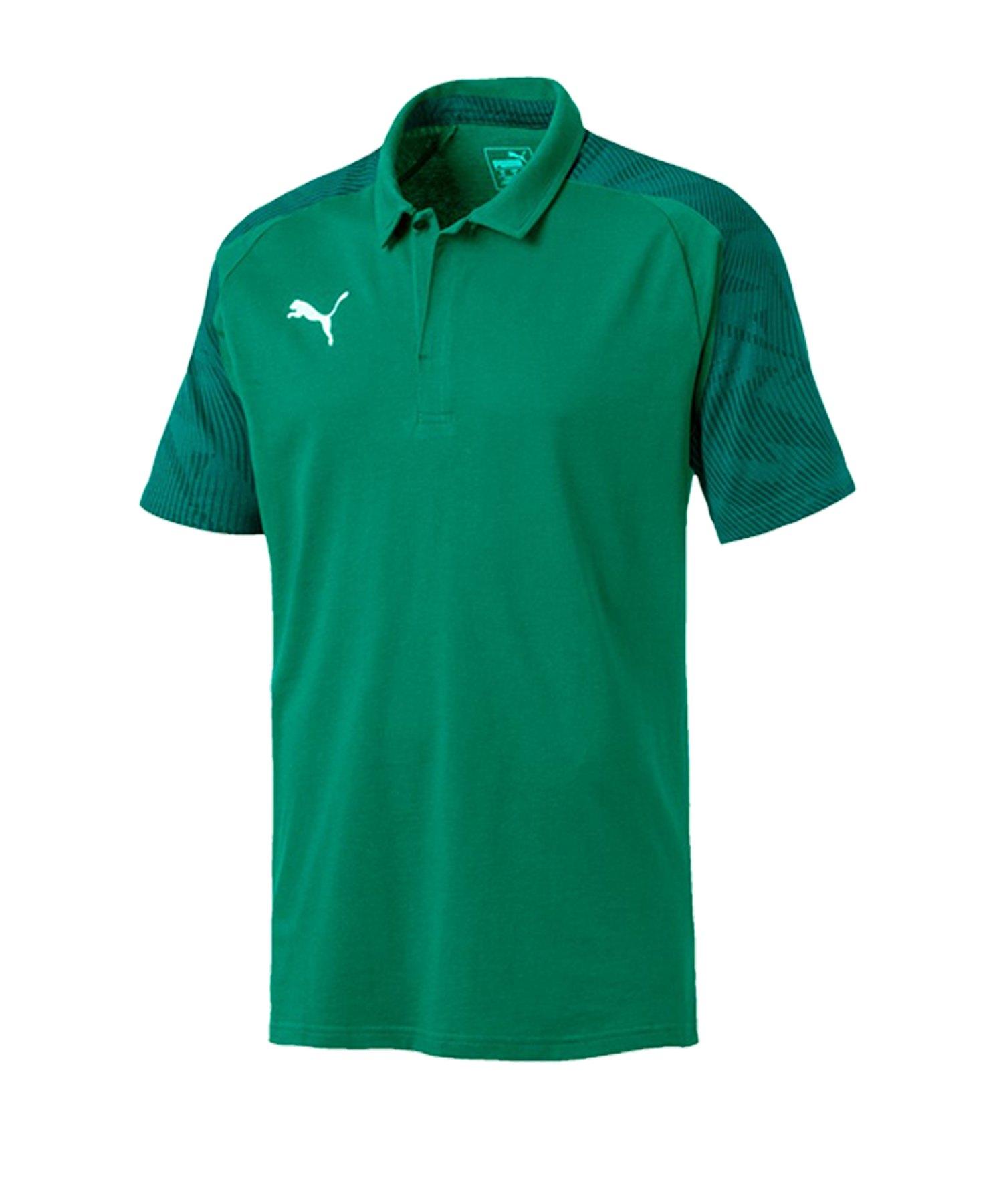 PUMA CUP Sideline Poloshirt Grün F05 - gruen