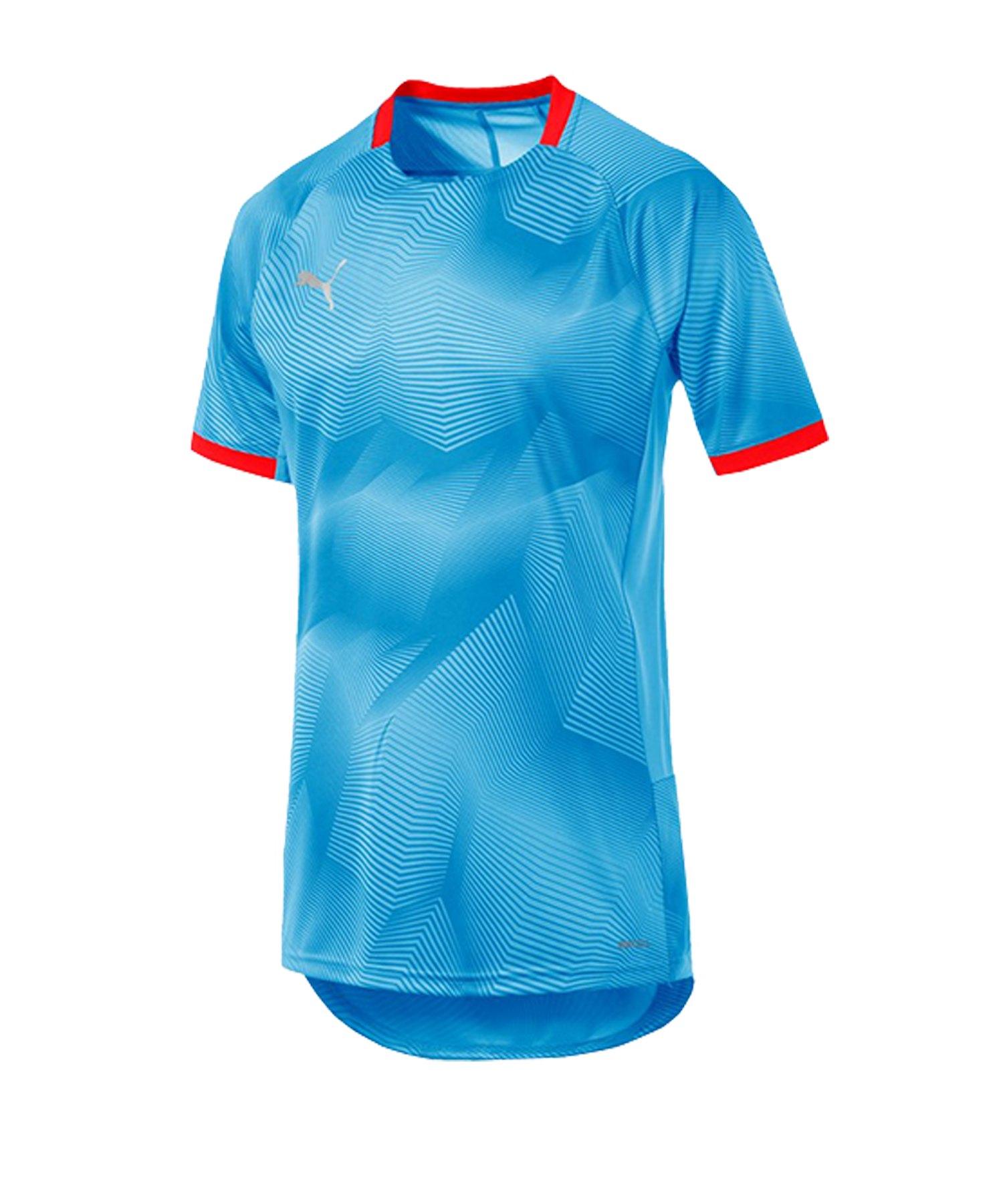 PUMA ftblNXT Graphic T-Shirt Blau Rot F02 - blau