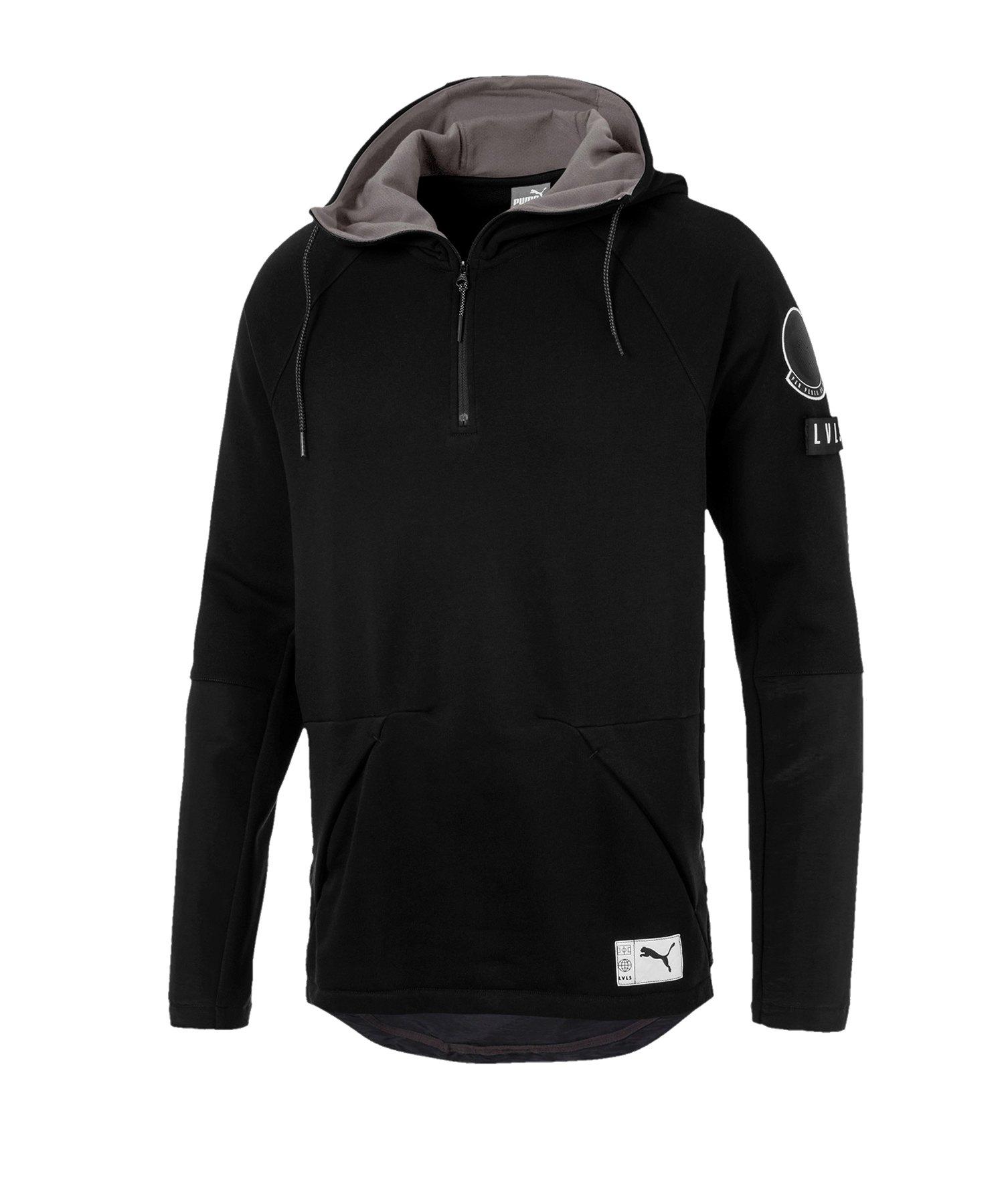 PUMA ftblNXT Casuals Zip-Hoody Schwarz Grau F01 - schwarz