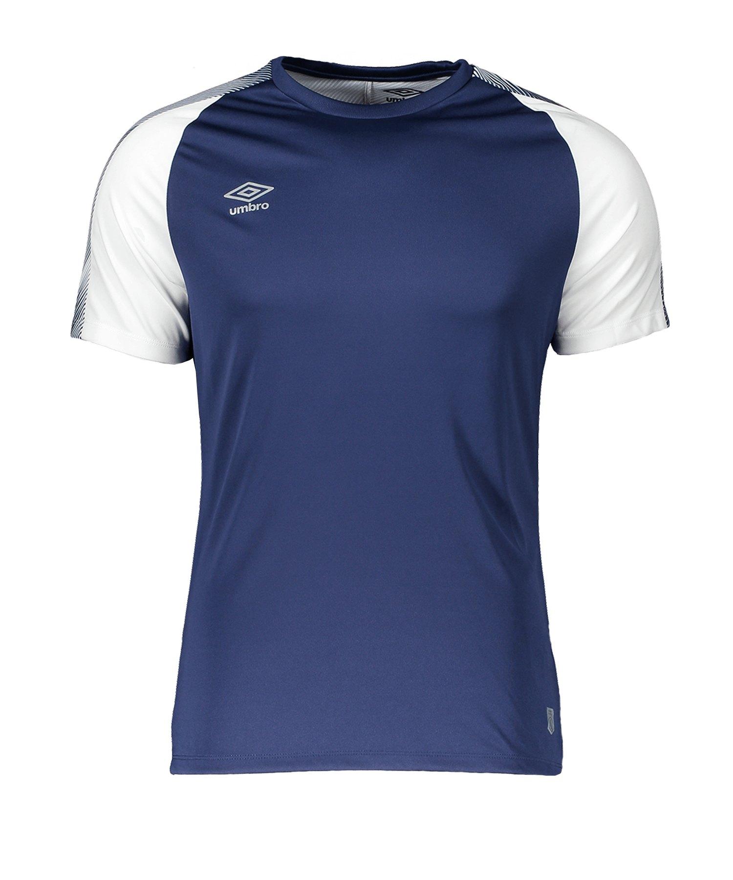Umbro Training Jersey T-Shirt Blau Weiss HUB - blau