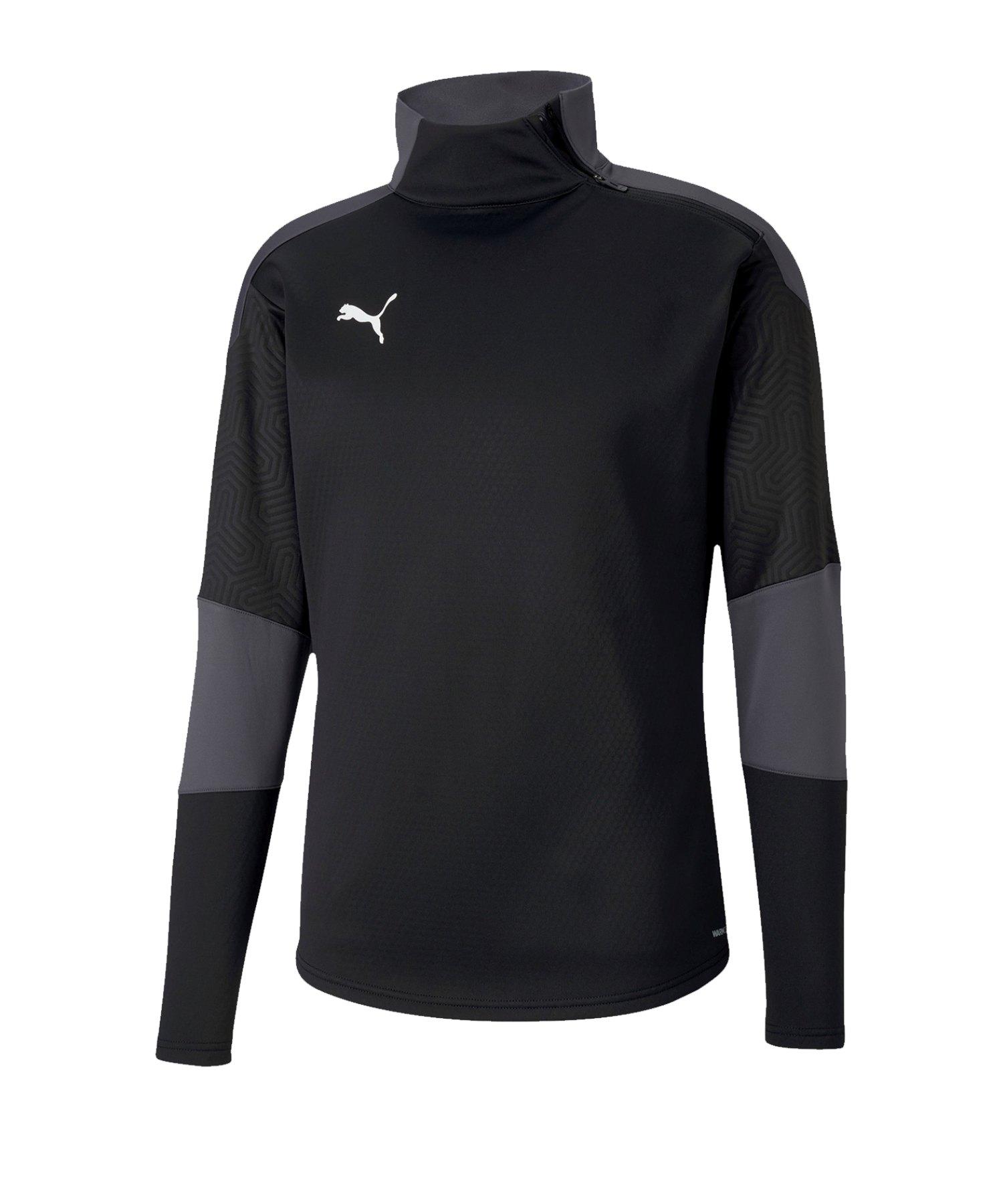PUMA teamFinal 21 langarm Shirt Schwarz Grau F03 - schwarz